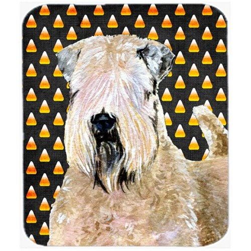 Carolines Treasures SS4281MP Wheaten Terrier Soft Coated Candy Corn Halloween Mouse Pad Hot Pad Or Trivet