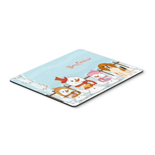 Carolines Treasures BB2371MP Merry Christmas Carolers Beagle Tricolor Mouse Pad Hot Pad or Trivet