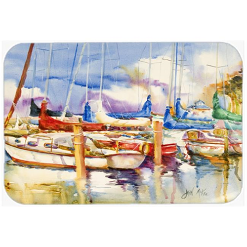 Carolines Treasures JMK1049MP End Stall Sailboats Mouse Pad Hot Pad & Trivet