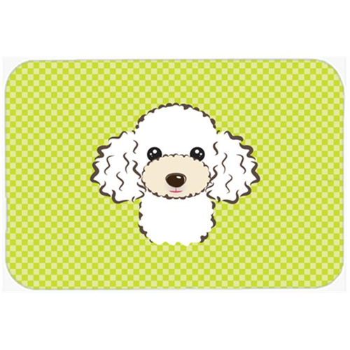 Carolines Treasures BB1319MP Checkerboard Lime Green White Poodle Mouse Pad Hot Pad Or Trivet 7.75 x 9.25 In.