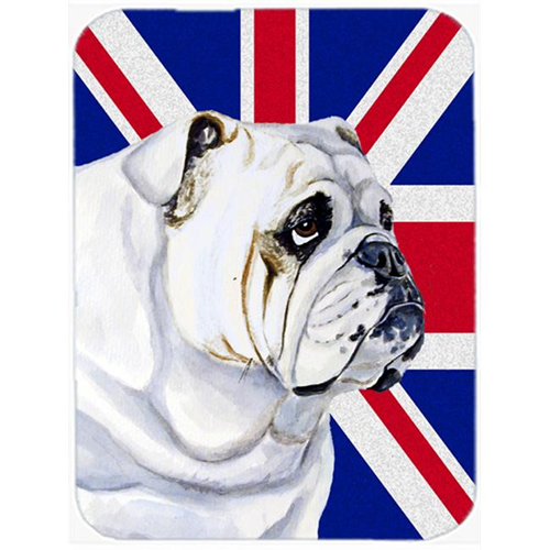 Carolines Treasures LH9471MP 7.75 x 9.25 In. English Bulldog With English Union Jack British Flag Mouse Pad Hot Pad Or Trivet