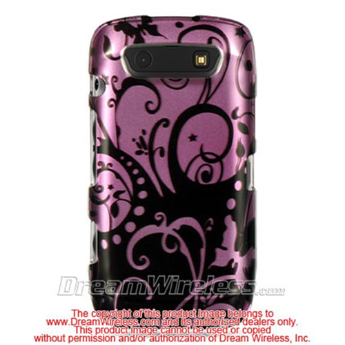 DreamWireless CABB9570PPBKSW Blackberry Torch 9860 And 9850 Crystal Case Purple With Black Swirl
