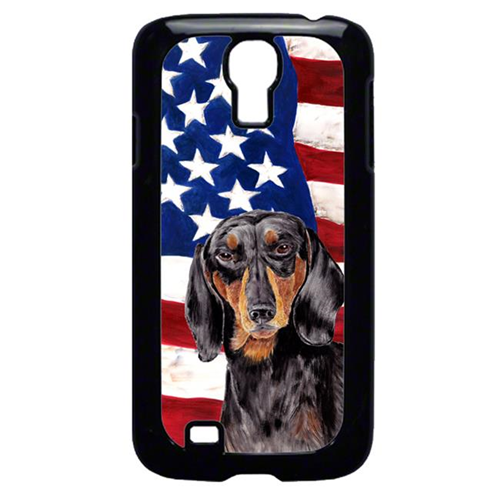 Carolines Treasures SC9003GALAXYS4 USA American Flag with Dachshund Cell Phone Cover GALAXY S4