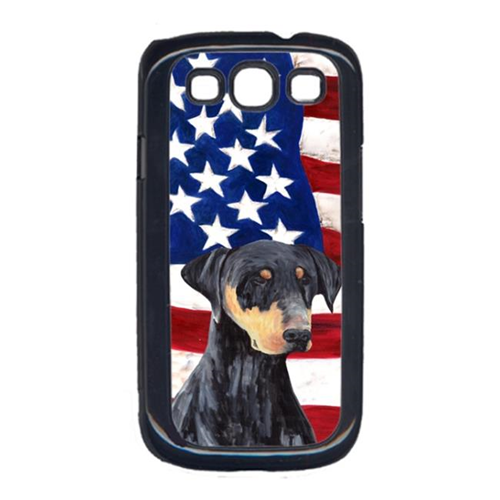 Carolines Treasures SC9030GALAXYS3 USA American Flag with Doberman Cell Phone Cover GALAXY S111