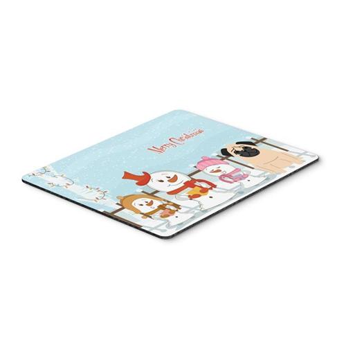 Carolines Treasures BB2339MP Merry Christmas Carolers Pug Fawn Mouse Pad Hot Pad or Trivet