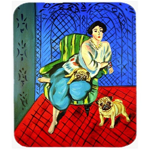 Carolines Treasures 7072MP 9.5 x 8 in. Lady with her Pug Mouse Pad Hot Pad or Trivet