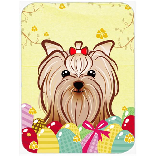 Carolines Treasures BB1886MP Yorkie Yorkshire Terrier Easter Egg Hunt Mouse Pad Hot Pad or Trivet