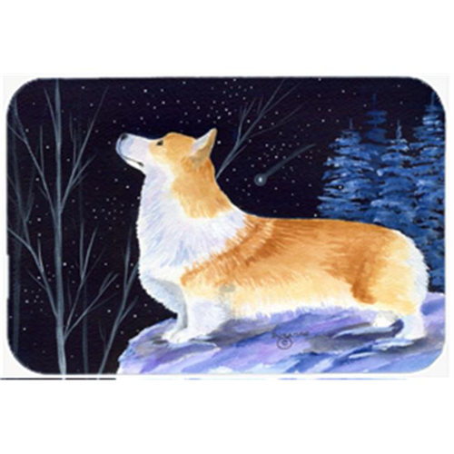 Carolines Treasures SS8373MP Starry Night Corgi Mouse Pad