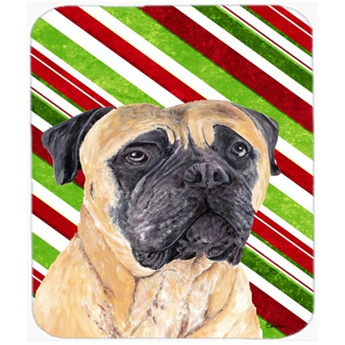 Carolines Treasures SC9345MP Mastiff Candy Cane Holiday Christmas Mouse Pad Hot Pad or Trivet