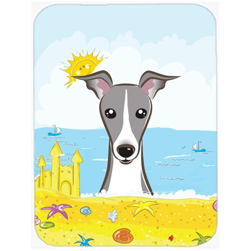 Carolines Treasures BB2104MP Italian Greyhound Summer Beach Mouse Pad Hot Pad or Trivet