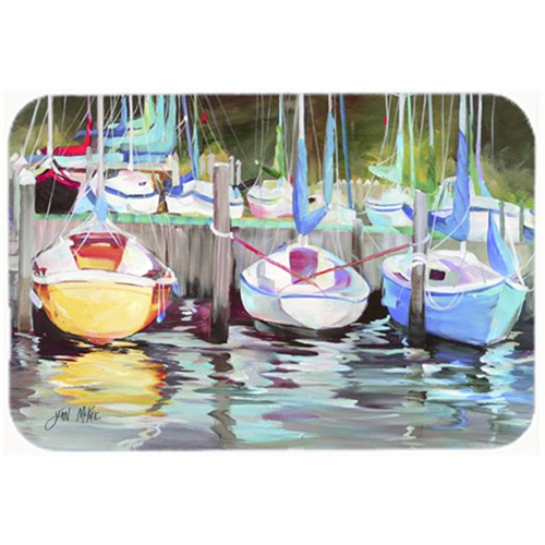 Carolines Treasures JMK1084MP Yellow Boat Sailboat Mouse Pad Hot Pad & Trivet