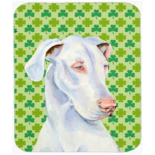 Carolines Treasures LH9176MP Great Dane St. Patricks Day Shamrock Portrait Mouse Pad Hot Pad or Trivet