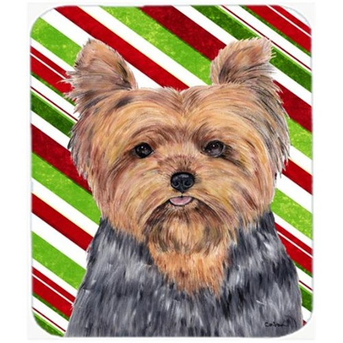 Carolines Treasures SC9348MP Yorkie Candy Cane Holiday Christmas Mouse Pad Hot Pad or Trivet