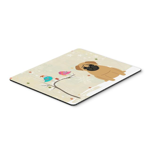 Carolines Treasures BB2479MP Christmas Presents Between Friends Pug Brown Mouse Pad Hot Pad or Trivet