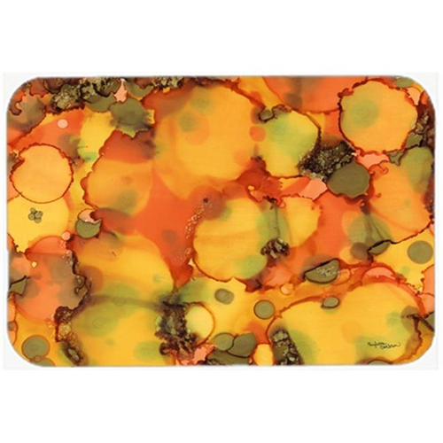 Carolines Treasures 8976MP Abstract in Orange & Greens Mouse Pad Hot Pad or Trivet