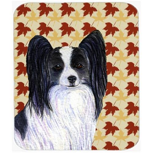 Carolines Treasures SS4351MP Papillon Fall Leaves Portrait Mouse Pad Hot Pad Or Trivet