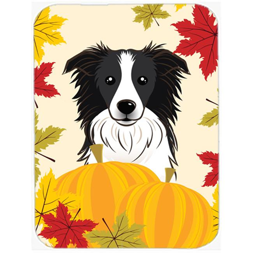 Carolines Treasures BB2047MP Border Collie Thanksgiving Mouse Pad Hot Pad or Trivet