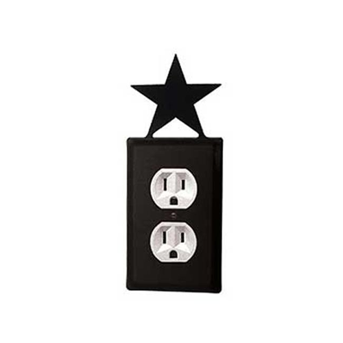 Village Wrought Iron EO-45 Star Outlet Cover-Black