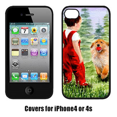Carolines Treasures SS8545IP4 Little Boy With His Golden Retriever Iphone4 Cover