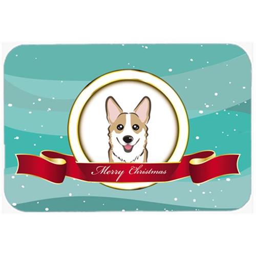Carolines Treasures BB1563MP Sable Corgi Merry Christmas Mouse Pad Hot Pad & Trivet
