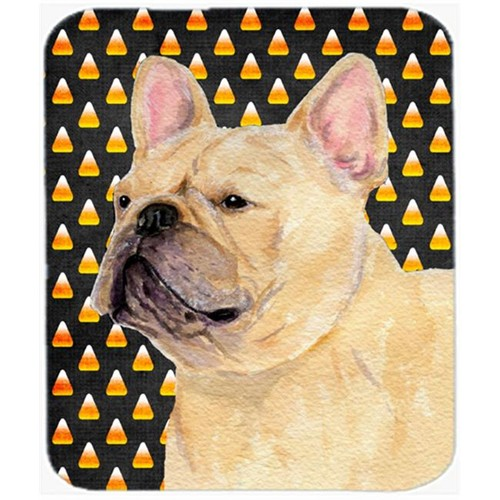 Carolines Treasures SS4278MP French Bulldog Candy Corn Halloween Portrait Mouse Pad Hot Pad Or Trivet
