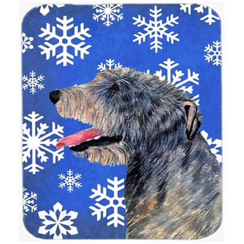 Carolines Treasures SS4644MP Irish Wolfhound Winter Snowflakes Holiday Mouse Pad Hot Pad or Trivet