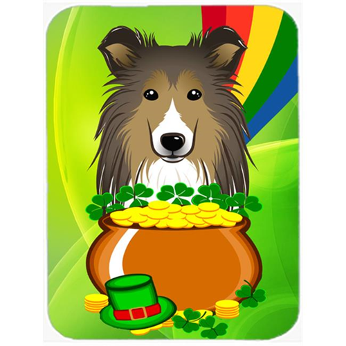 Carolines Treasures BB1986MP Sheltie St. Patricks Day Mouse Pad Hot Pad or Trivet