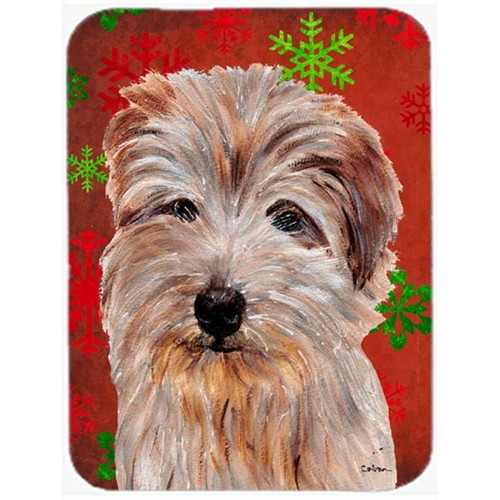 Carolines Treasures SC9760MP Norfolk Terrier Red Snowflakes Holiday Mouse Pad Hot Pad Or Trivet 7.75 x 9.25 In.
