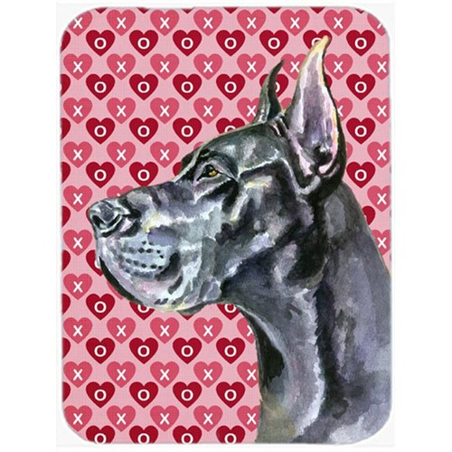Carolines Treasures LH9564MP Black Great Dane Hearts Love And Valentines Day Mouse Pad Hot Pad & Trivet