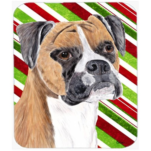 Carolines Treasures SC9350MP Boxer Candy Cane Holiday Christmas Mouse Pad Hot Pad or Trivet