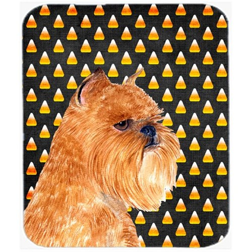 Carolines Treasures SS4287MP Brussels Griffon Candy Corn Halloween Portrait Mouse Pad Hot Pad Or Trivet