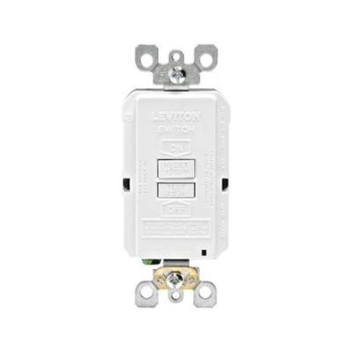 Leviton Mfg R58-GFRBF-0KW 20 AMP 125 Volt Combo Self-Test Blank Face GFCI Outlet White