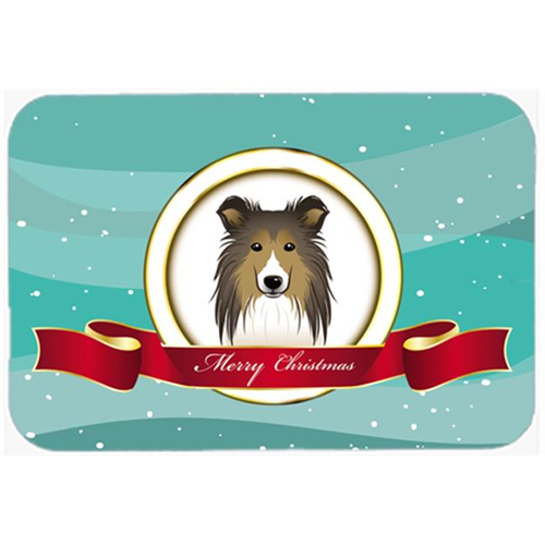 Carolines Treasures BB1552MP Sheltie Merry Christmas Mouse Pad Hot Pad & Trivet