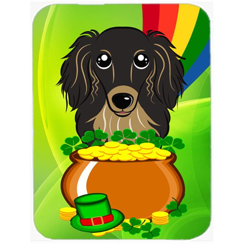 Carolines Treasures BB1957MP Longhair Black & Tan Dachshund St. Patricks Day Mouse Pad Hot Pad or Trivet