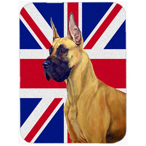 Carolines Treasures LH9464MP 7.75 x 9.25 In. Great Dane With English Union Jack British Flag Mouse Pad Hot Pad Or Trivet