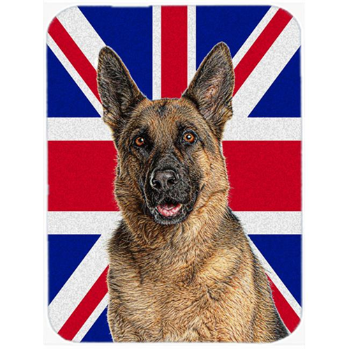 Carolines Treasures KJ1166MP German Shepherd with English Union Jack British Flag Mouse Pad Hot Pad or Trivet