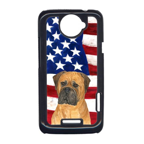 Carolines Treasures SS4001HTCONE USA American Flag With Bullmastiff HTC One X Cell Phone Cover