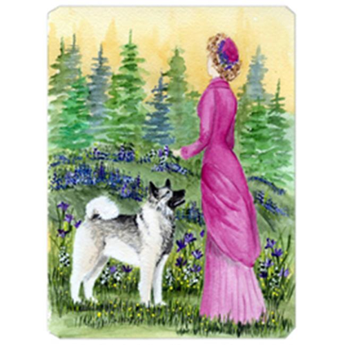 Carolines Treasures SS8154MP Lady With Her Norwegian Elkhound Mouse Pad Hot Pad & Trivet