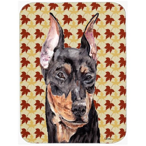 Carolines Treasures SC9692MP German Pinscher Fall Leaves Mouse Pad Hot Pad Or Trivet 7.75 x 9.25 In.