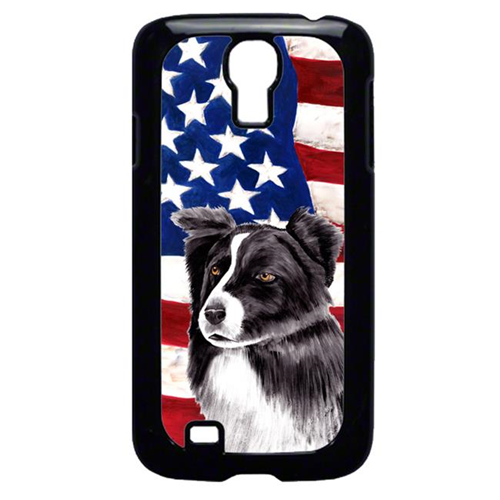 Carolines Treasures SC9009GALAXYS4 USA American Flag with Border Collie Cell Phone Cover GALAXY S4