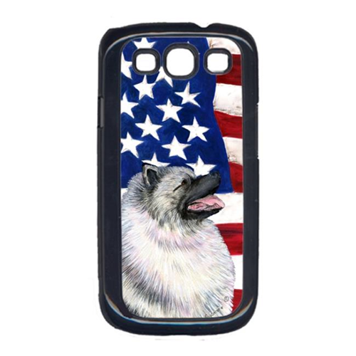 Carolines Treasures SS4051GALAXYS3 USA American Flag with Keeshond Cell Phone Cover GALAXY S111