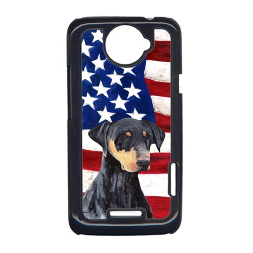 Carolines Treasures SC9030HTCONE USA American Flag With Doberman HTC One X Cell Phone Cover