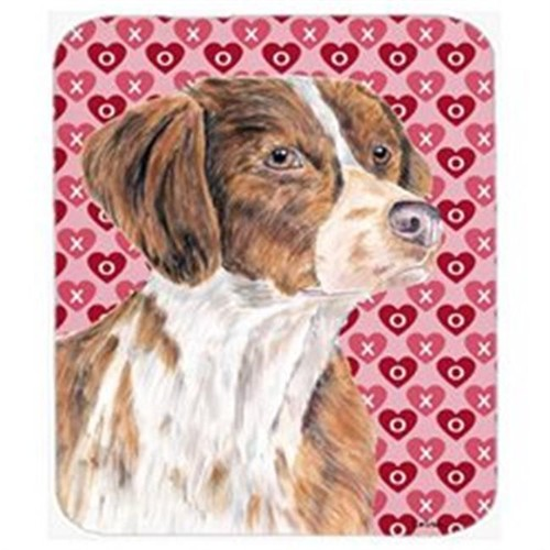Carolines Treasures SC9250MP Brittany Hearts Love And Valentines Day Portrait Mouse Pad Hot Pad Or Trivet