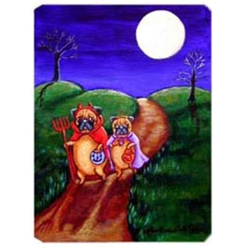 Carolines Treasures 7281MP 8 x 9.5 in. Trick or Treat Halloween Pug Mouse Pad Hot Pad or Trivet