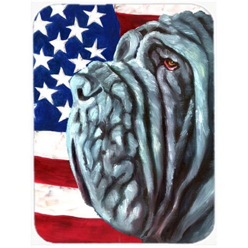 Carolines Treasures LH9540MP Neapolitan Mastiff Usa Patriotic American Flag Mouse Pad Hot Pad & Trivet