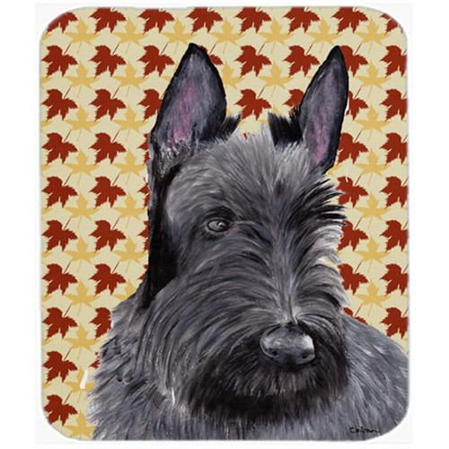 Carolines Treasures SC9226MP 9.5 x 8 in. Scottish Terrier Fall Leaves Portrait Mouse Pad Hot Pad or Trivet
