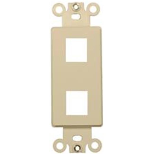 Morris Products 88104 Decorator Wallplate For Keystone Jacks And Modular Inserts Two Ports Ivory