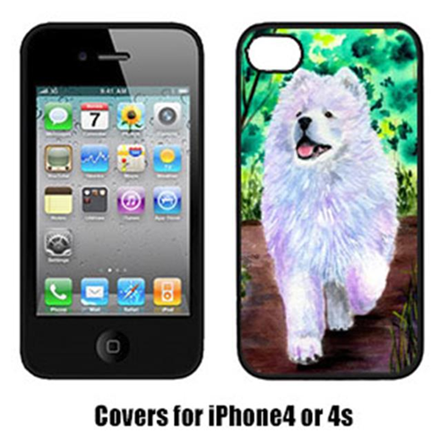 Carolines Treasures SS8458IP4 Samoyed Cell Phone Cover Iphone 4
