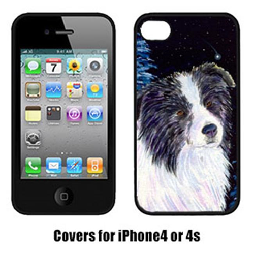 Carolines Treasures SS8558IP4 Starry Night Border Collie Iphone4 Cover