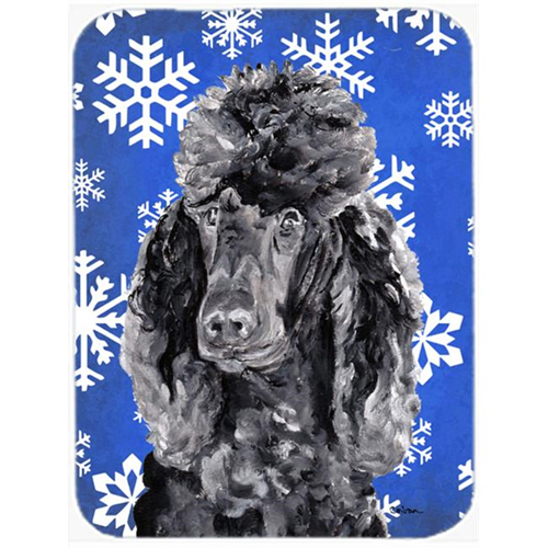 Carolines Treasures SC9770MP Black Standard Poodle Winter Snowflakes Mouse Pad Hot Pad Or Trivet 7.75 x 9.25 In.